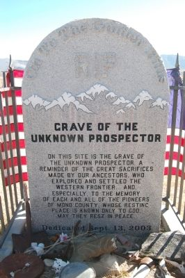 Grave of the Unknown Prospector Marker image. Click for full size.