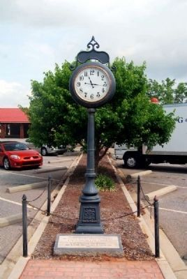Anderson Town Clock<br>Located Downtown Near the<br>Farmers Market/Depot image. Click for full size.