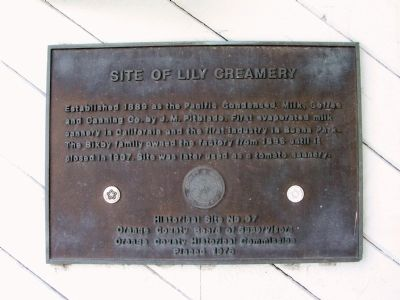 Site of Lily Creamery Marker image. Click for full size.