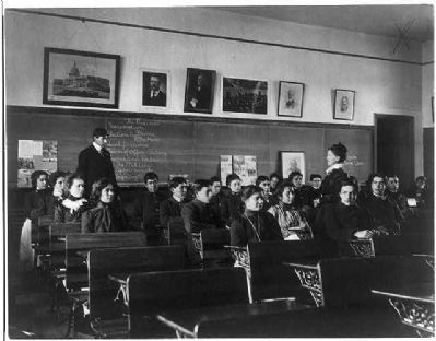 Carlisle Indian School, Carlisle, Pa. Class in Government image. Click for full size.