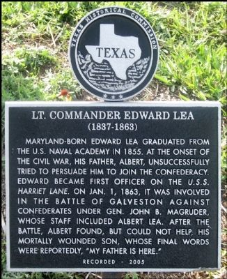 Lt. Commander Edward Lea Marker image. Click for full size.