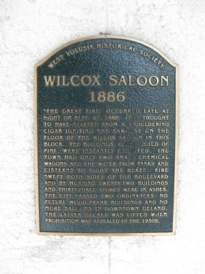 Wilcox Saloon Marker image. Click for full size.