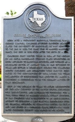 George Campbell Childress Marker image. Click for full size.