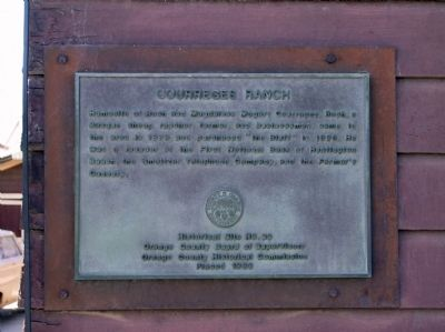 Courreges Ranch Marker image. Click for full size.