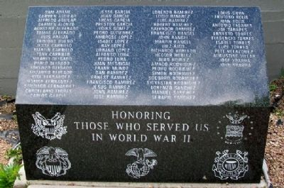 World War II Memorial at St. Catherine's Church image. Click for full size.