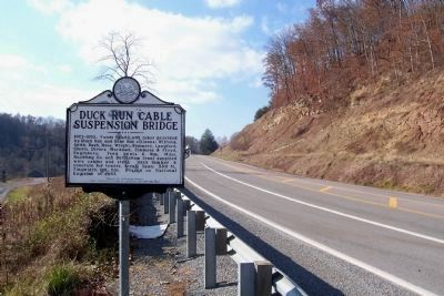 Duck Run Cable Suspension Bridge Marker image. Click for full size.
