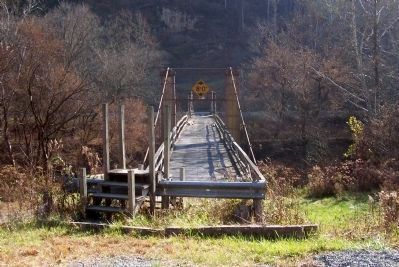 Duck Run Cable Suspension Bridge image. Click for full size.