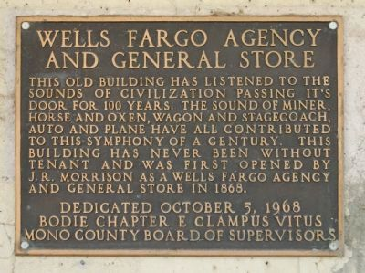 Wells Fargo Agency and General Store Marker image. Click for full size.