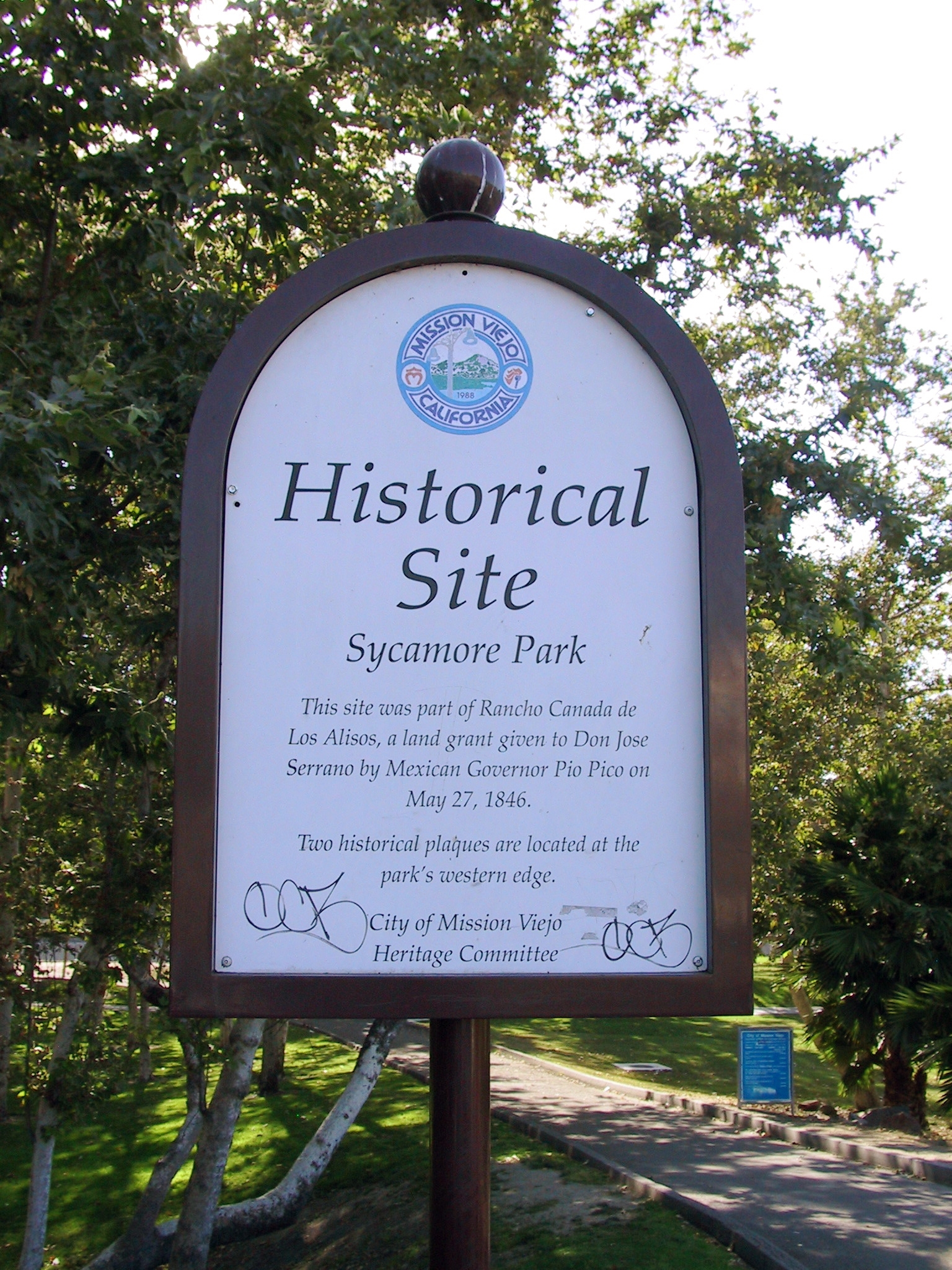 Historical Site = Sycamore Park