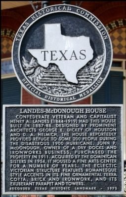 Landes-McDonough House Marker image. Click for full size.