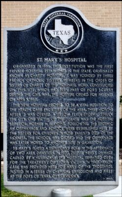 St. Mary's Hospital Marker image. Click for full size.