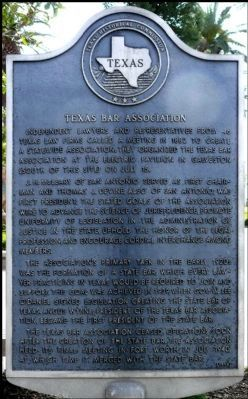 Texas Bar Association Marker image. Click for full size.