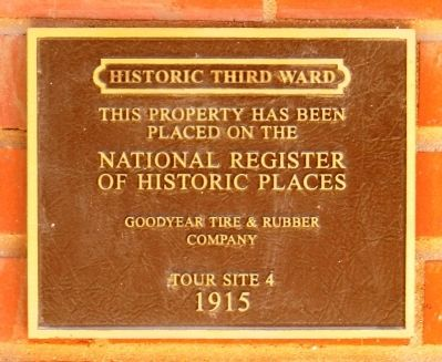 Goodyear Tire & Rubber Company Marker image. Click for full size.