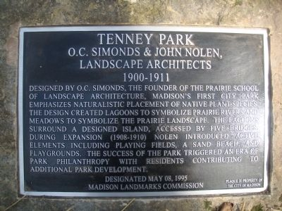 Tenney Park Marker image. Click for full size.