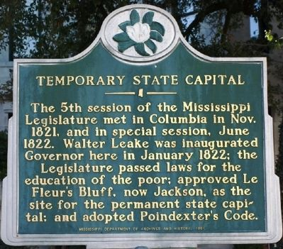 Temporary State Capital Marker image. Click for full size.