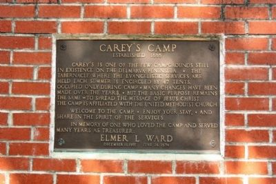 Carey's Camp Marker image. Click for full size.