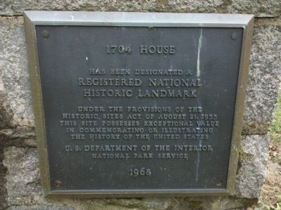 William Brinton 1704 House Marker image. Click for full size.