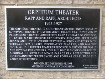 Orpheum Theater Marker image. Click for full size.