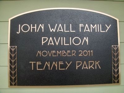 John Wall Family Pavilion Marker image. Click for full size.