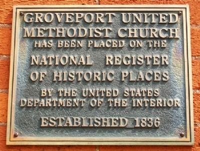 Groveport United Methodist Church National Register Marker image. Click for full size.