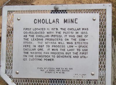 Chollar Mine Marker image. Click for full size.