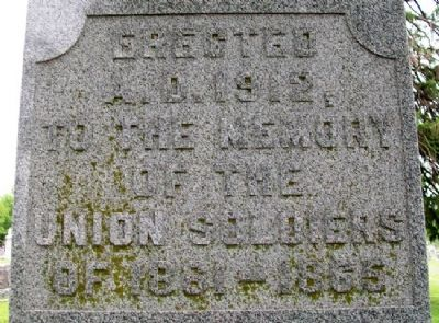 Louisburg Civil War Memorial North Face image. Click for full size.