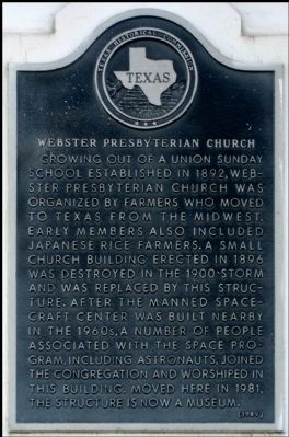Webster Presbyterian Church Marker image. Click for full size.