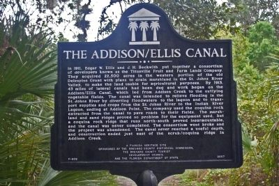The Addison/Ellis Canal Marker image. Click for full size.