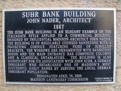 Suhr Bank Building Marker image. Click for full size.