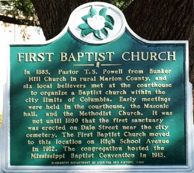 First Baptist Church Marker image, Touch for more information