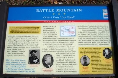Battle Mountain Marker image. Click for full size.
