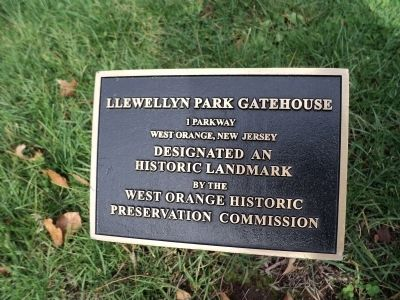 Llewellyn Park Gatehouse Marker image. Click for full size.