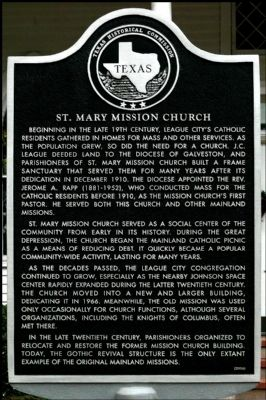 St. Mary Mission Church Marker image. Click for full size.