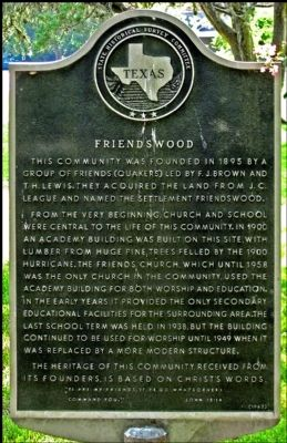 Friendswood Marker image. Click for full size.