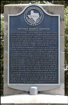 Matthew Burnett Homesite Marker image. Click for full size.