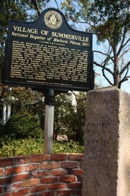 Village of Summerville Marker and the Gould's Corner Boundry Stone image. Click for full size.