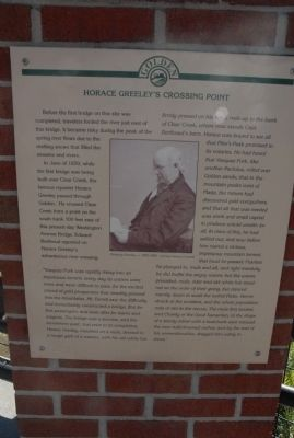 Horace Greeley's Crossing Point Marker image. Click for full size.