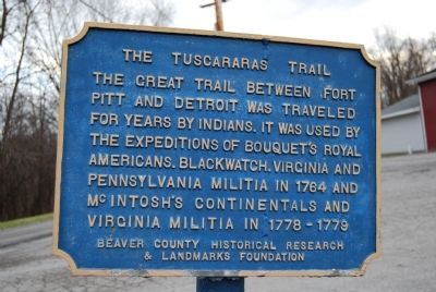 The Tuscararas Trail Marker image. Click for full size.