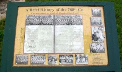 A Brief History of the 788th Company [CCC] Marker image. Click for full size.