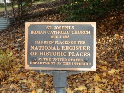 St. Joseph's Roman Catholic Church Marker image. Click for full size.