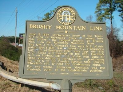 Brushy Mountain Line Marker image. Click for full size.