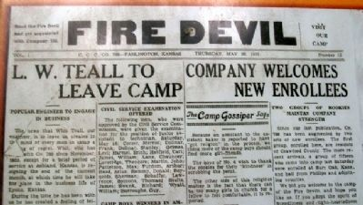 The Fire Devils Newspaper on Marker image. Click for full size.