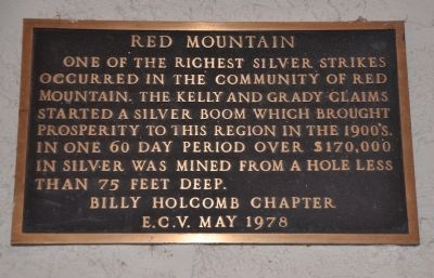 Red Mountain Marker image. Click for full size.