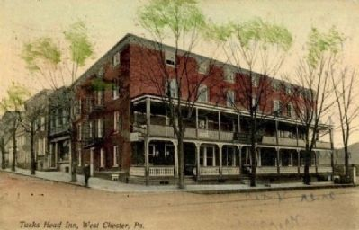 Turk's Head Inn c. 1940's image. Click for full size.