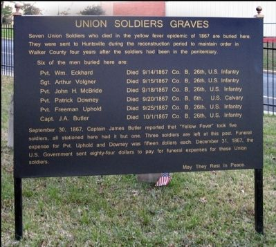 Union Soldiers Graves Marker image. Click for full size.