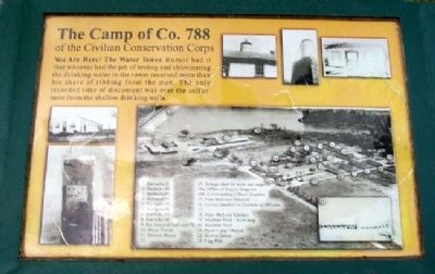 The Camp of Co. 788 of the CCC Marker image. Click for full size.