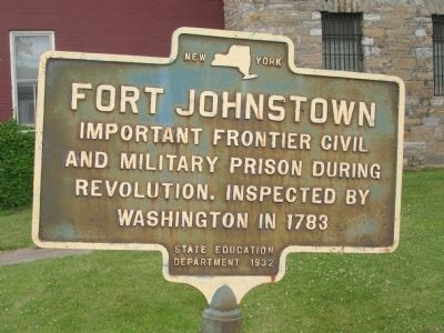 Fort Johnstown Marker image. Click for full size.