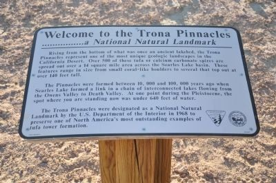 Trona Pinnacles Marker image. Click for full size.