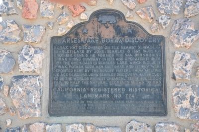 Searles Lake Borax Discovery Marker image. Click for full size.