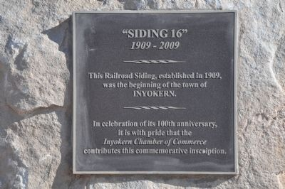 """Siding 16"" Marker image. Click for full size."